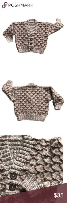 12 Mo Baby Hand Knitted Cardigan Sweater New 12 Mo Baby Hand Knitted Cardigan Sweater New:  My mother knits adorable baby clothes, and I wanted to share them with you!  A hand knitted baby item is such a unique and special gift; whether for your own baby or someone else's. ❤️ Shirts & Tops Sweaters