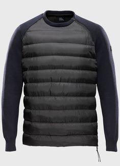 Combo Tech Knit Down Pullover Sport Wear, Mens Sweatshirts, Men Sweater, Mens Fashion, Pullover, Knitting, Golden Ratio, Sweaters, Winter Season
