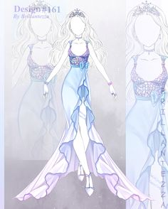 [closed] adoptable outfits auction by Eggperon on DeviantArt Dress Design Drawing, Dress Design Sketches, Dress Drawing, Fashion Design Drawings, Fashion Sketches, Drawing Anime Clothes, Manga Clothes, Vestidos Anime, Anime Girl Dress