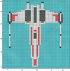 Star Wars X-Wing perler bead pattern