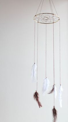Hey, I found this really awesome Etsy listing at https://www.etsy.com/listing/158780252/dreamcatcher-mobile-brown