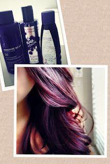 DSK Steph!: DIY Hair Color! Combination of Burgundy Purple Hair..... I kinda wanna do this