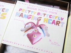 Kit corazón de fieltro. Kit felt hanging heart