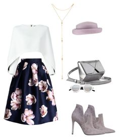 """""""water lilies"""" by eri-berry ❤ liked on Polyvore featuring Chicwish, Kendall + Kylie, Spektre, Balmain, Fragments and moodindigo"""