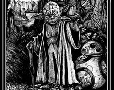 """Check out new work on my @Behance portfolio: """"Yoda of the rocks_ink on paper_23 x 14cm_2017r"""" http://be.net/gallery/60230839/Yoda-of-the-rocks_ink-on-paper_23-x-14cm_2017r"""