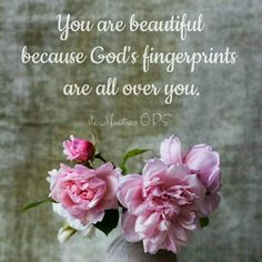 """139 Likes, 4 Comments - she Ministries OBS (@sheministriesobs) on Instagram: """"You are beautiful because God's fingerprints are all over you. Have a blessed weekend ladies, we…"""""""