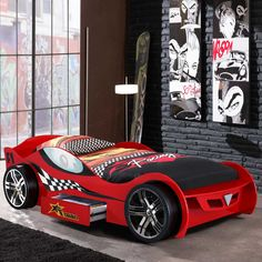 Kinderbett in Auto-Design mit Rollrost Jetzt bestellen unter: https://moebel.ladendirekt.de/kinderzimmer/betten/kinderbetten/?uid=37928e04-48d5-59d1-98fc-5183fcf5f67e&utm_source=pinterest&utm_medium=pin&utm_campaign=boards #jugendbett #auto #kinderzimmer #autobett #kinderbett #rennautobett #kinderbetten #kinderbettchen #betten #rennwagenbett