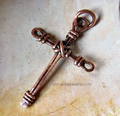 Wire cross pendant tutorial