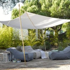 Voile d'ombrage design dans le jardin - 20 photos d'extérieur très inspirantes - CôtéMaison.fr
