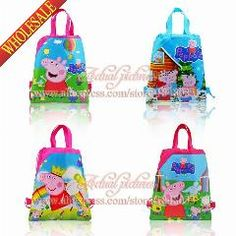 [ 22% OFF ] 4Pcs/lot Lovely Pig Cartoon Desk Accessories Children Drawstring Backpacks School Party Bag For Stationery Holder Kid Gift