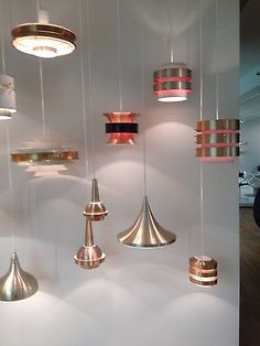 very best design made in GDR: VEB Metalldrucker ceiling lamps made of anodized aluminum, I just love these light fixtures DDR Design #nwl
