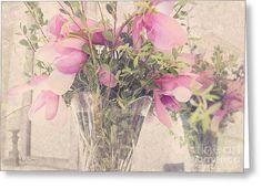 Spring Magnolias Greeting Card by Sally Simon
