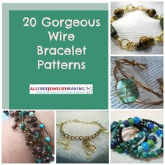 This collection of 20 Gorgeous Wire Bracelet Patterns can be worn all- year long and will add pizazz to any outfit.