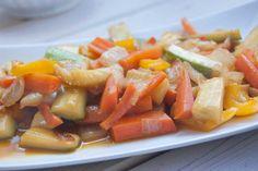 Receta de cocina: Salteado de verdura en wok