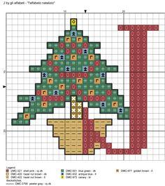 Dark Red Alphabet with Christmas Motifs Cross Stitch Patterns alfabeto natalizio J Xmas Cross Stitch, Cross Stitch Letters, Cross Stitch Needles, Cross Stitch Charts, Cross Stitching, Cross Stitch Embroidery, Christmas Charts, Christmas Cross, Christmas Alphabet
