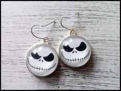 Nightmare Before Christmas earrings Jack Skellington earrings Jack Skellington Jewelry