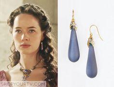 Reign: Season 2 Episode 15 Lola's Purple Drop Earrings
