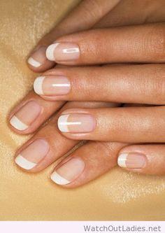 Rounded natural acrylic nails
