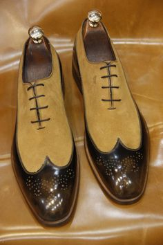 Hecho a mano diseño especial lujo marrón para por UstabasShoes, $299.00