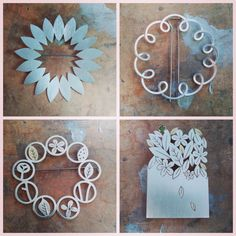 Four brooches by Diana Greenwood