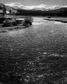 Ansel Adams, The Tuolumne River, Yosemite (1944) | Artsy