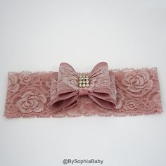 Baby Headband Pale Pink Big Bow Headband Pale Pink by BySophiaBaby