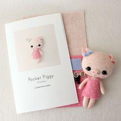 Cheeky Pocket Piggy Pattern Kit by Gingermelon on Etsy