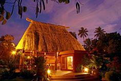 Tropical Bure at night #NamaleResort