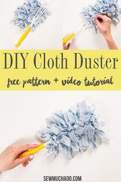 Reusable Swiffer Duster Cloths Tutorial Make reusable Swiffer duster cloths with this easy tutorial! No more need to buy expensive refills - you'll love this DIY cloth duster! Sewing Hacks, Sewing Tutorials, Sewing Crafts, Sewing Patterns, Sewing Diy, Upcycled Crafts, Sewing Ideas, Diy Crafts, Cleaning