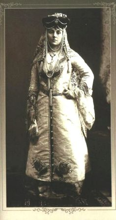 Varvara Dashkova at the winter ball. 1903