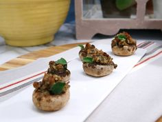 Get this all-star, easy-to-follow Stuffed Mushrooms recipe from The Kitchen