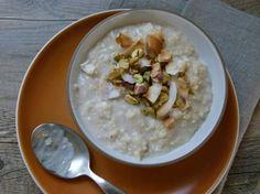 Warm Coconut Millet Porridge, tastes like dulce de leche meets horchata meets chai tea