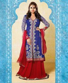 Buy Classy Blue Anarkali Salwar Kameez online at $87.38 [ADF30379]