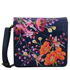 Versatile to it's core, this leather flap bag makes it easy to carry your essentials around town. Original Artwork, Original Paintings, Full Length Slip, Bag Making, Messenger Bag, Leather Ballet Flats, Cosmetic Case, Card Holders, Moonlight