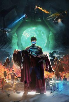 Crisis Supergirl poster by Bosslogic on ArtStation at https://www.artstation.com/artwork/Lx9wv