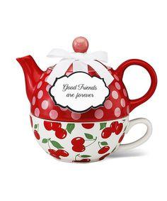Cherries Tea for One Set #zulily #zulilyfinds