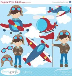 Hey, I found this really awesome Etsy listing at http://www.etsy.com/listing/150551131/40-off-sale-airplane-pilot-clipart