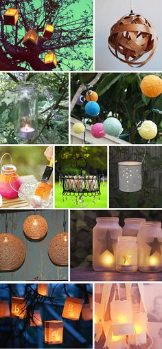 DIY Lanterns. Cool ideas to light up your garden.