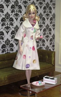 Bellissima Couture Springtime in Paris French macaroon fabric coat