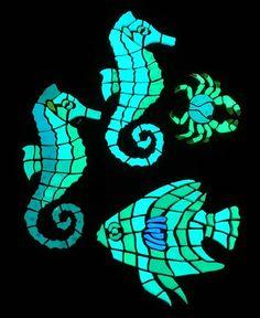Fish Mosaic Patterns | Mosaics - Fish, Beach, Ocean