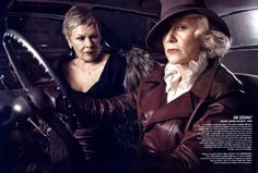 Judi Dench and Helen Mirren-by Annie Leibovitz. A couple of great dames.