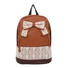 Lace Bowknot School Backpack