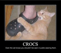 crocs the ugliest shoe ever | ... that crocs are the ugliest dorkiest and most unattractive foot