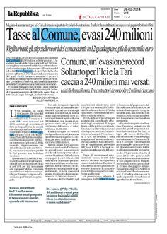TASSE AL COMUNE, EVASI 240 MILIONI