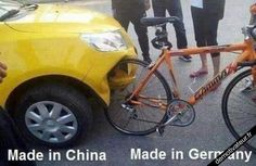 Car & bike - Made in China versus Made in Germany car humor funny Funny Shit, Funny Car Memes, Car Humor, Hilarious, Funny Stuff, Fun Funny, Memes Lol, Funny Commercials, Crazy Funny