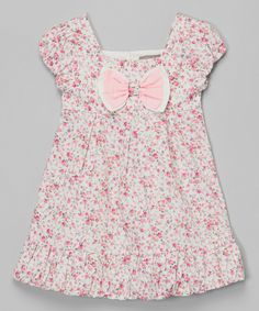 Pink Floral Bow Bubble Dress - Infant & Toddler