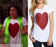 Austin & Ally: Season 3 Episode 22 Trish's Heart Print Tee