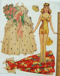 Three Vintage Glamour Gals Pre Cut Lots of Gorgeous Outfits Good Condition | eBay