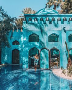 The bluest Hotel at Es Saadi Marrakesh Resort in Morocco