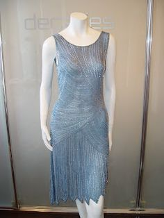 Anonymous Sky Blue flapper dress. The flow of the dress is beautiful!